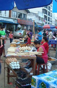 Vientiane boat racing festival - food stall