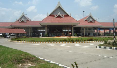 Immigration building at Lao-Thai Friendship Bridge #2