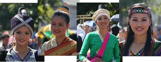 Lao ethnic ladies
