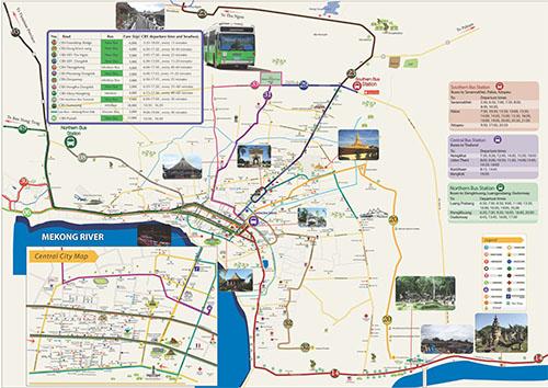 City bus route map