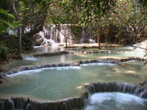 Kuang Si Fall, pools