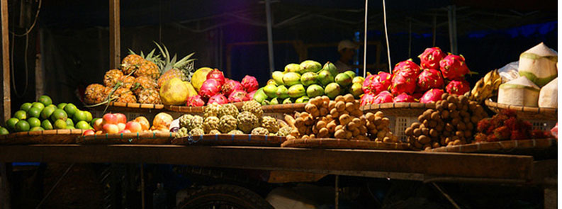 Luang Prabang night market - fruit stall