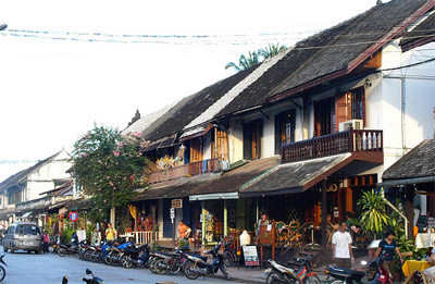Luang Prabang street and houses