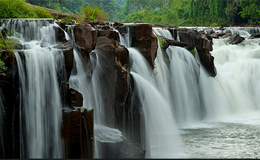 Beautiful waterfall Pha Suam