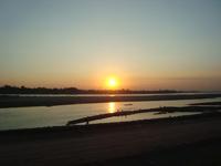 see sunset in Vientiane