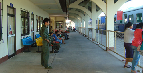 Tha Naleng train station, Laos
