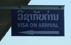 A sign - Visa on arrival