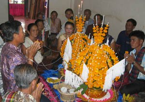 Baci at a Lao Wedding