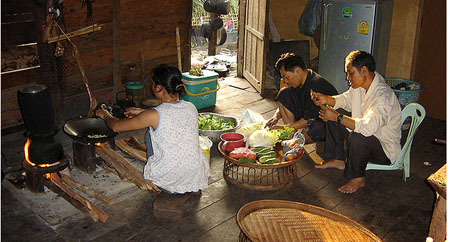 Homestay cooking