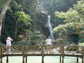 Kuang Si Falls bridge