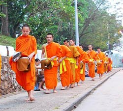Laos culture - Almsgiving