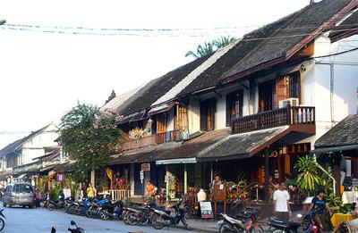 Luang Prabang street and houses