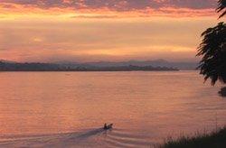 Mekong before dark in VTE