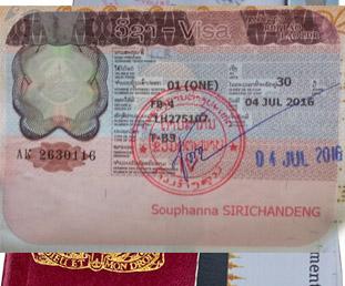 Laos tourist visa