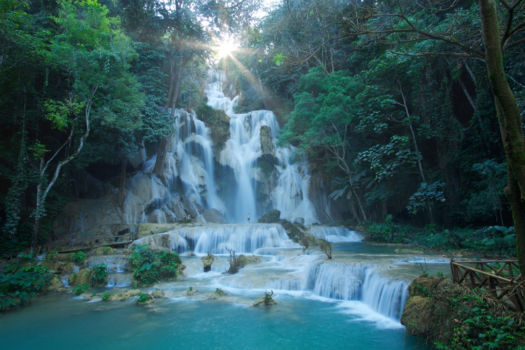 Kuang Si Falls - One of the most popular sites in Luang Prabang