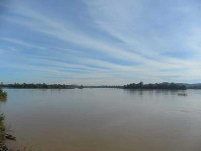 Mekong River in south Laos