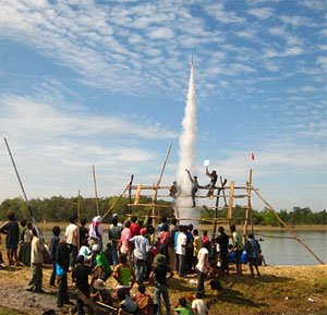 Rocket launching at Rocket festival